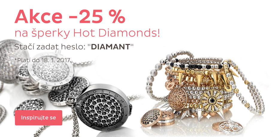 Akce - 25 % Hot Diamonds