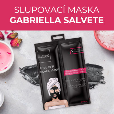 Černá pleťová slupovací maska Active Charcoal (Black Peel-Off Mask) 2 x 8 ml